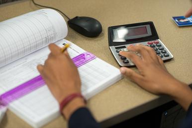 A book and a calculator