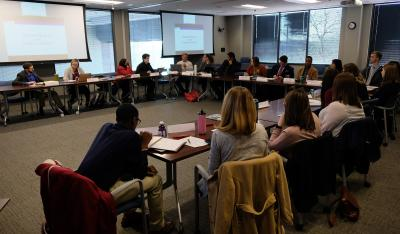 Student government presidents gather for quarterly meeting