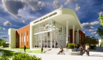 Architectural rendering of Pellissippi State Math & Science Building
