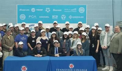 High school students at Signing Day at TCAT Nashville's Portland Campus