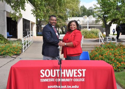 TCAT Memphis President Roland Rayner, Southwest President Tracy Hall