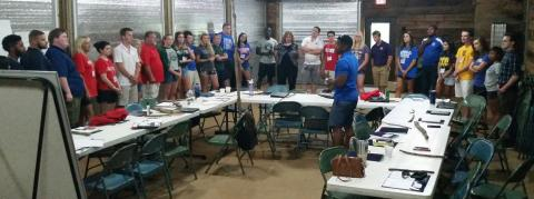 TBR Student Government Association presidents at their summer retreat