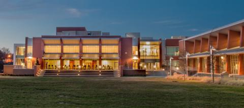 Nashville State Community College at dusk
