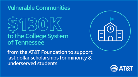 AT&T Foundation Donates $130,000 to The College System of Tennessee