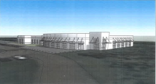 Architect's rendering of new TCAT-Covington health training facility