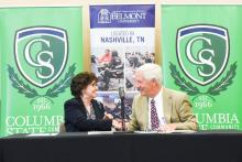 Columbia State and Belmont Sign Agreement