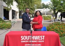 TCAT Memphis President Roland Rayner, Southwest President Tracy Hall