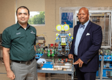 Motlow Professor Khalid Tantawi and President Michael Torrence