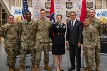 Gov. Bill Lee with Tennessee National Guard personnel