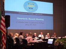 Tennessee Board of Regents meeting at Columbia State Community College