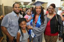 Outstanding Vol State grad Keonya Milam and her family